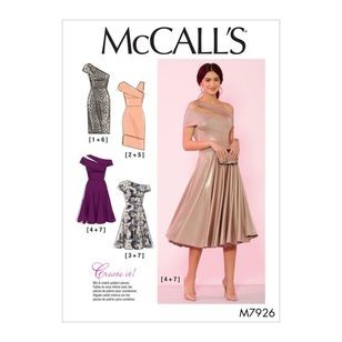 McCall's Pattern M7926 Create It! Misses' and Women's Special Occasion Dresses