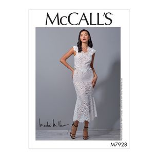 McCall's Pattern M7928 Nicole Miller Misses' Special Occasion Dress