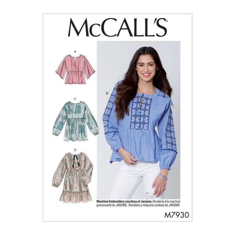 McCall's Pattern M7930 Misses' Tops and Tunics