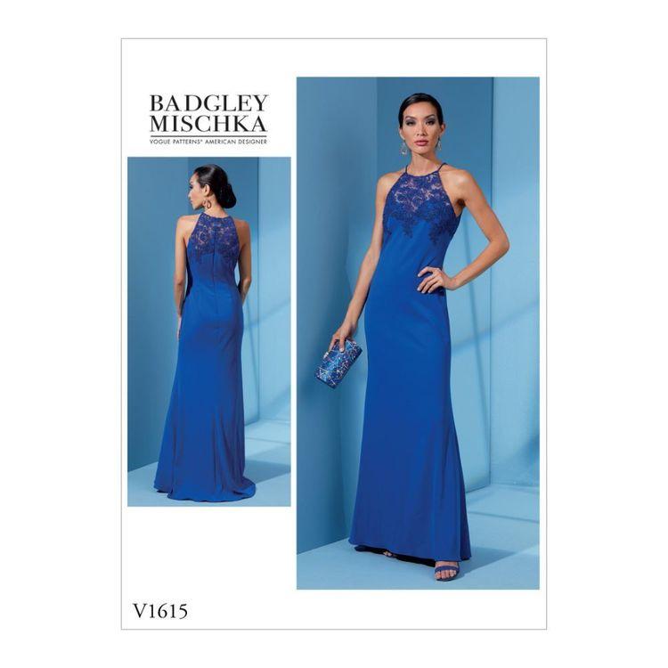 Vogue Pattern V1615 Badgley Mischka Platinum Misses'/Misses' Petite Dress