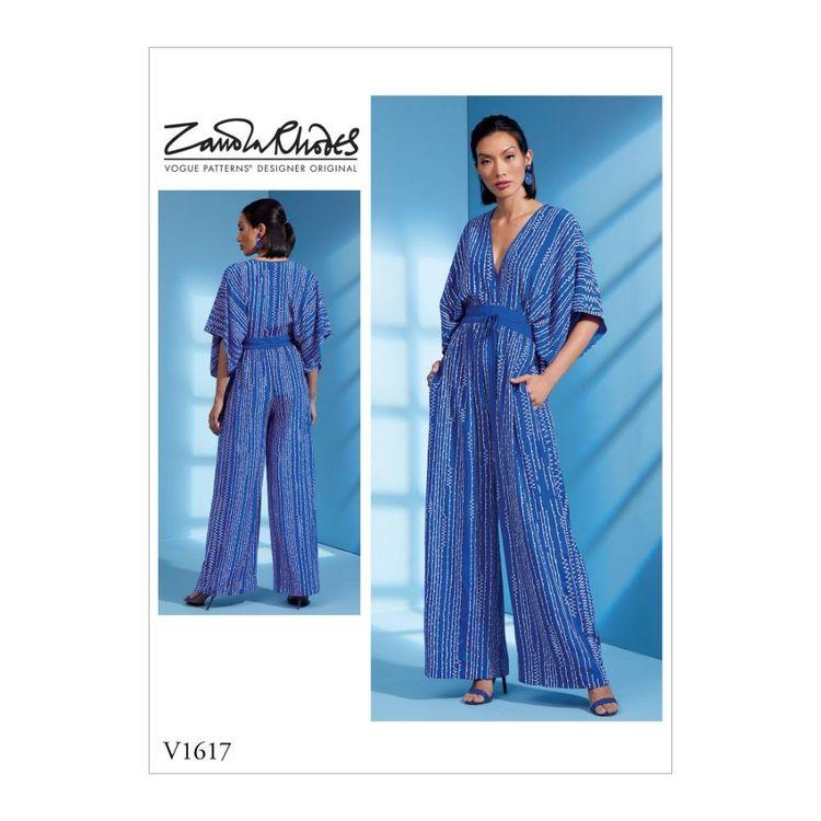 Vogue Pattern V1617 Zandra Rhodes Misses' Jumpsuit