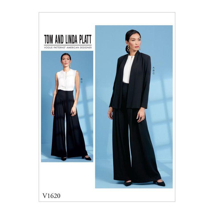 Vogue Pattern V1620 Tom and Linda Platt Misses' Jacket, Top and Pants