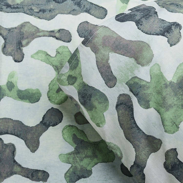 KOO Kids Cactus Camo Fitted Sheet Set