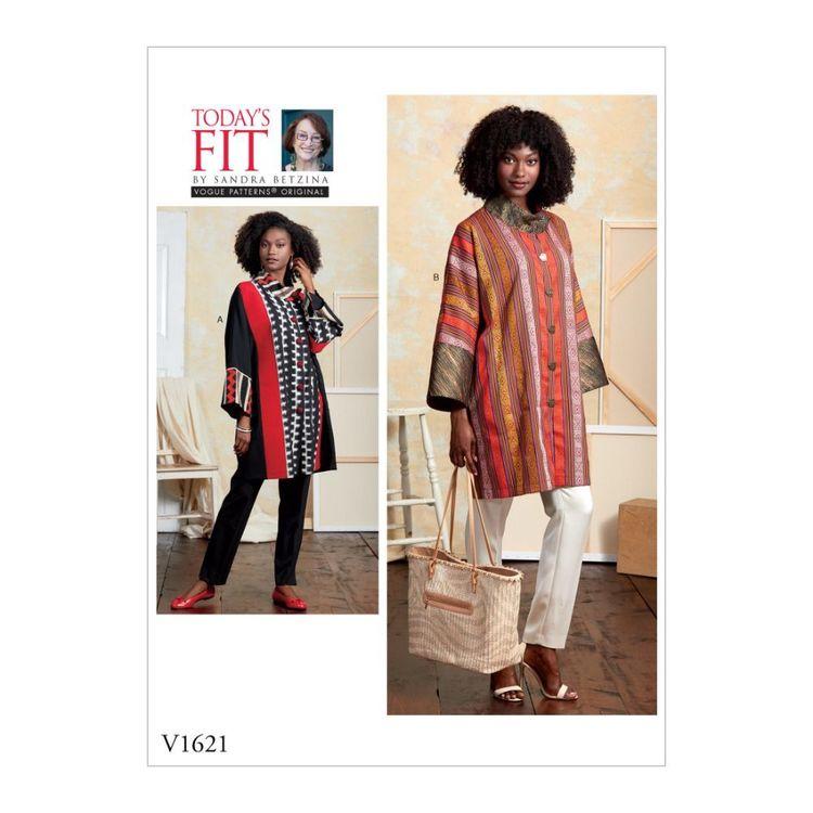 Vogue Pattern V1621 Today's Fit by Sandra Betzina Misses' Coat