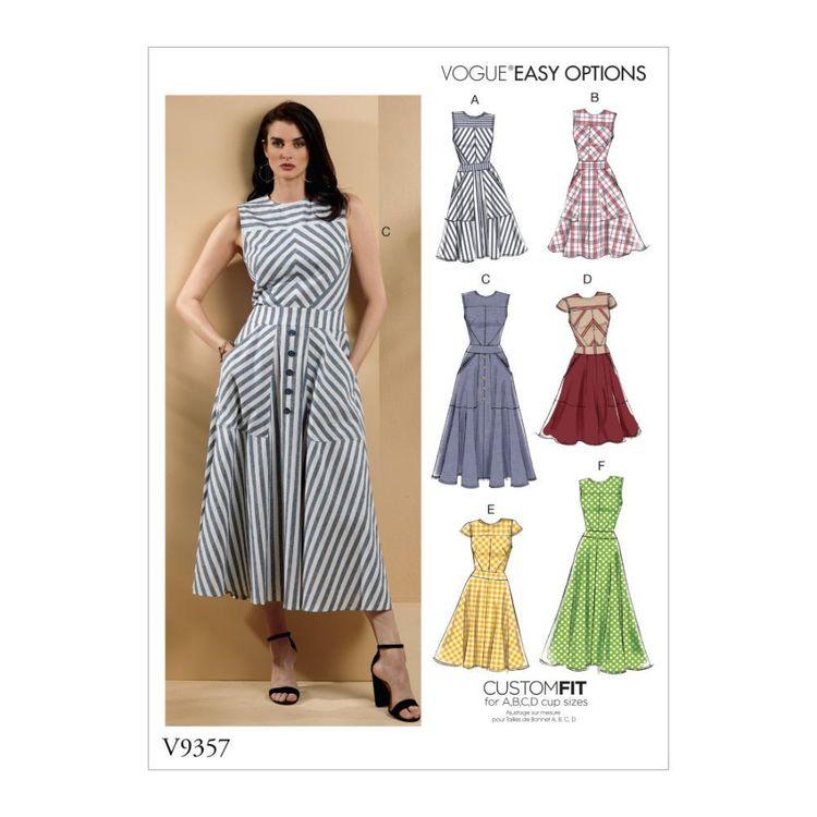Vogue Pattern V9357 Vogue Easy Options Custom Fit Misses' Dress