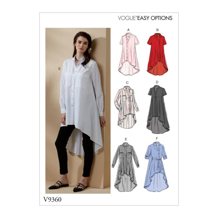 Vogue Pattern V9360 Vogue Easy Options Misses' Shirt and Belt
