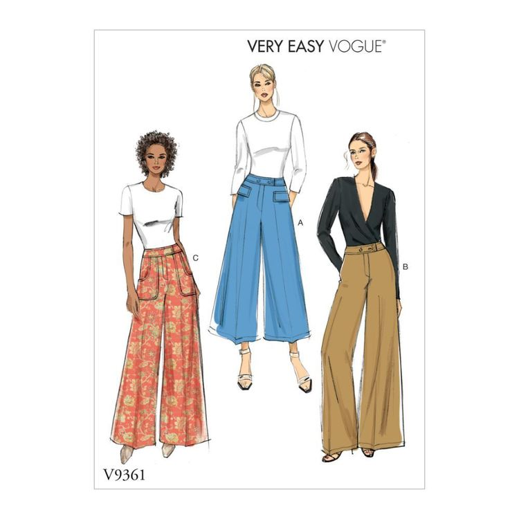 Vogue Pattern V9361 Very Easy Vogue Misses'/Misses' Petite Pants
