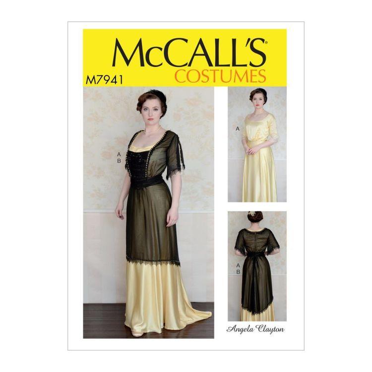 McCall's Pattern M7941 Angela Clayton Misses' Costume