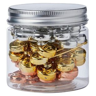Safety Pins With Jar 48 Pack