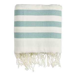 Ombre Home Mediterranean Summer Stripe Throw