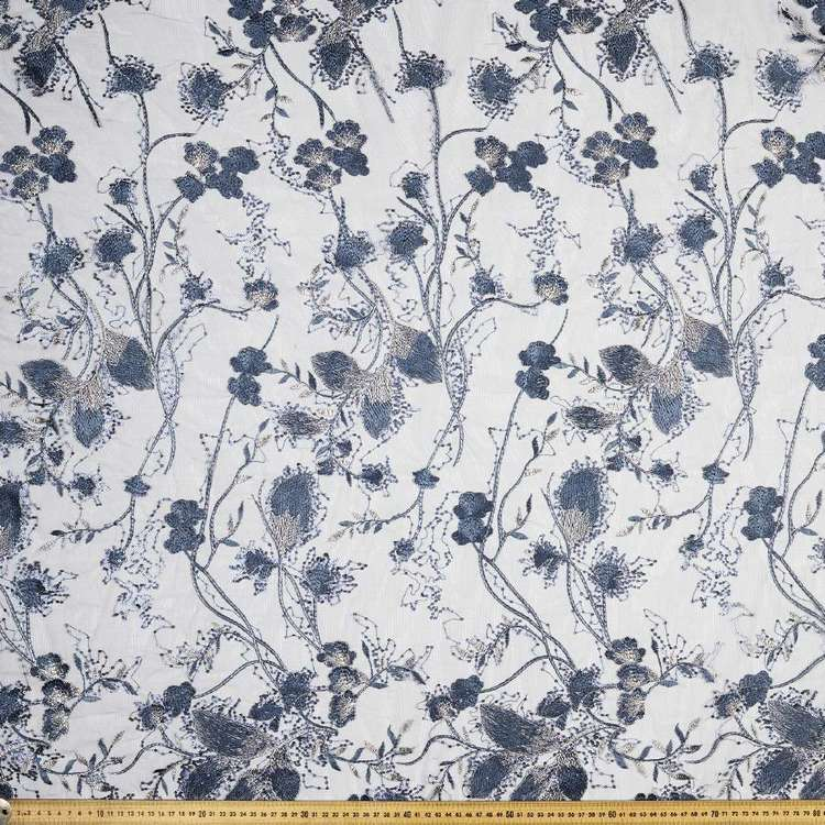 European C2 Embroidered Organza 130cm Fabric