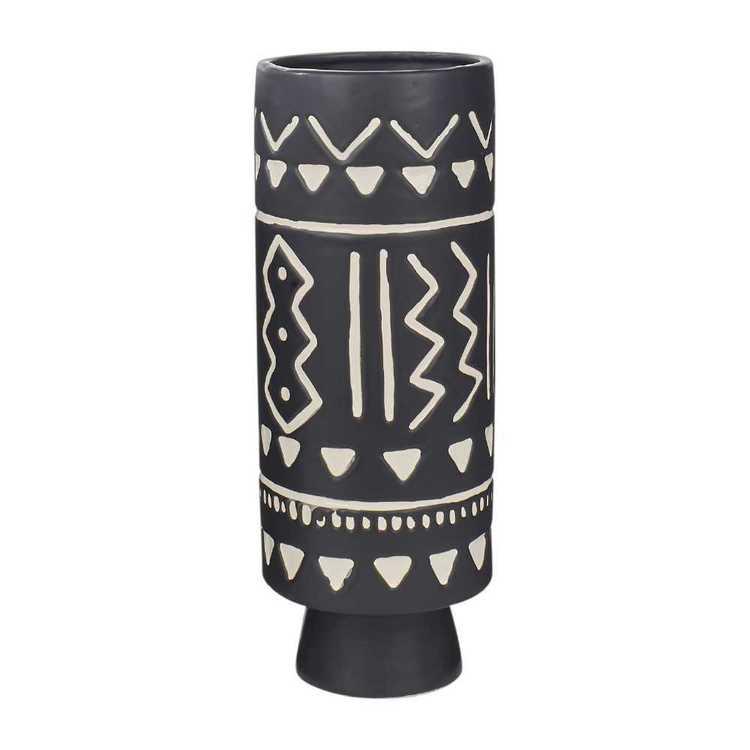 Living Space Monochrome Moment Tribal Vase #1