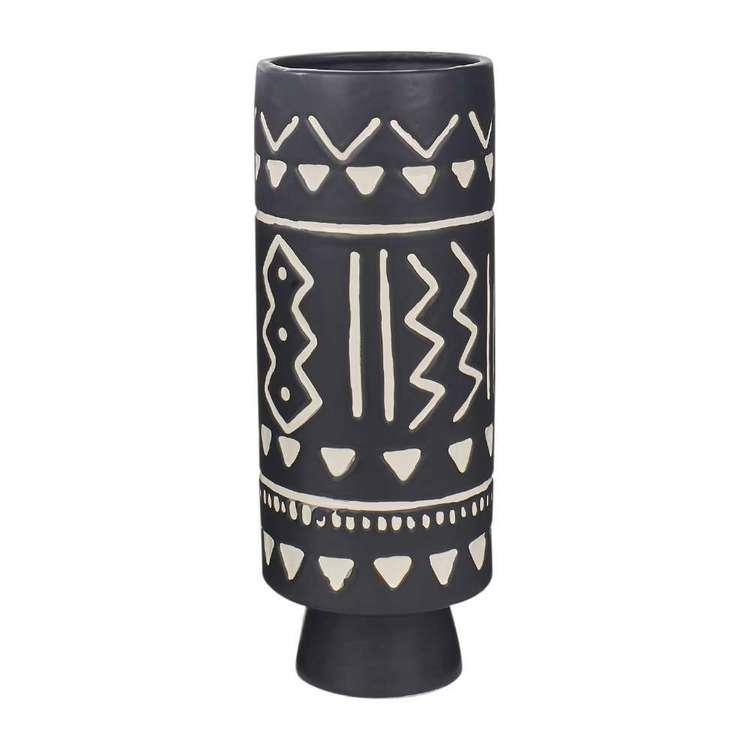 Living Space Monochrome Moment Tribal Vase