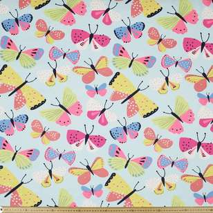 Brilliant Butterfly Printed Cotton Poplin Fabric