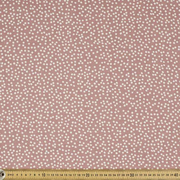 Printed Cotton Linen Busy Spot 132cm Fabric
