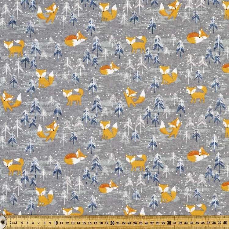 Winter Fox Printed 112 cm Flannelette Fabric