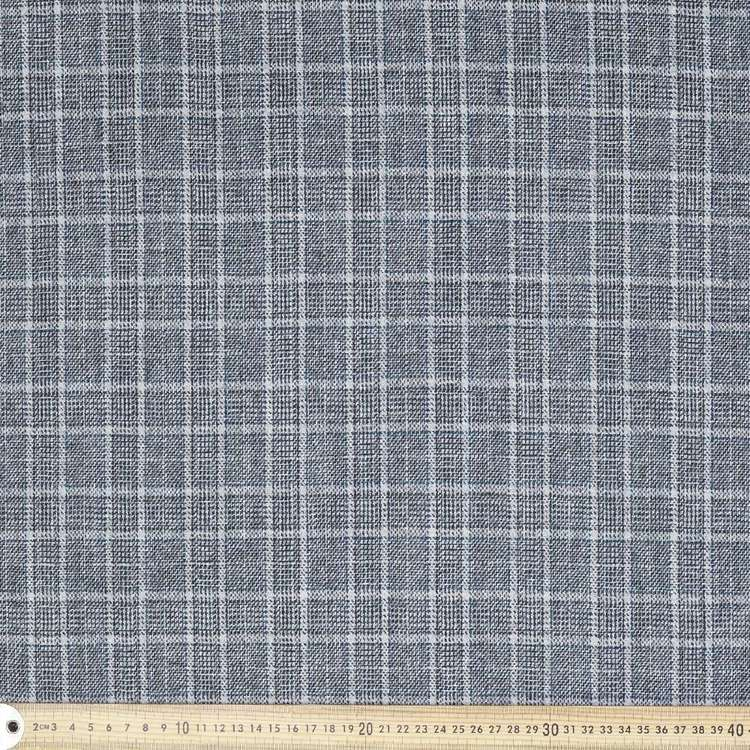 Wool Blended 145 cm Check Suiting Fabric