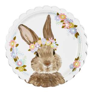 Happy Easter Rosie Paper Plate 8 Pack