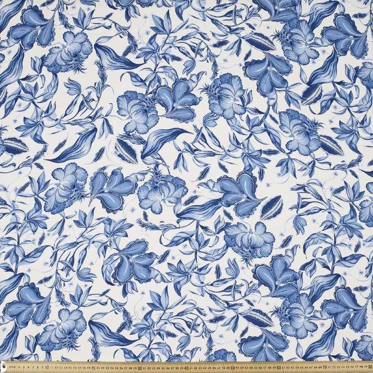 Blues Printed 135 cm Rayon Fabric