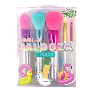 Pool-A-Palooza 5 Piece Cosmetic Brush Kit