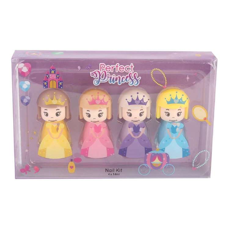Perfect Princess 4 Piece Nail Kit Multicoloured
