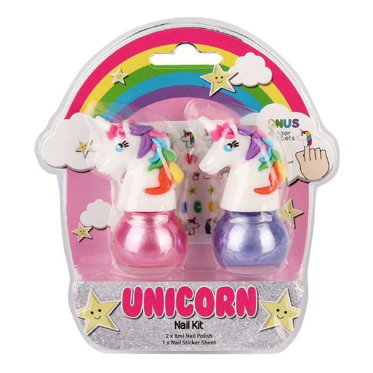 Unicorn Nail Kit Multicoloured 2 Pack