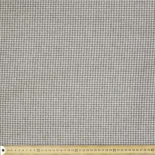 Houndstooth Printed 145 cm Wool Blend Suiting Fabric