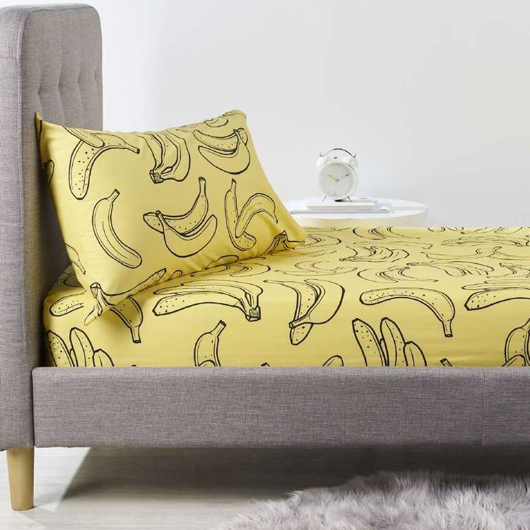 Kids House Bananas Fitted Sheet Set