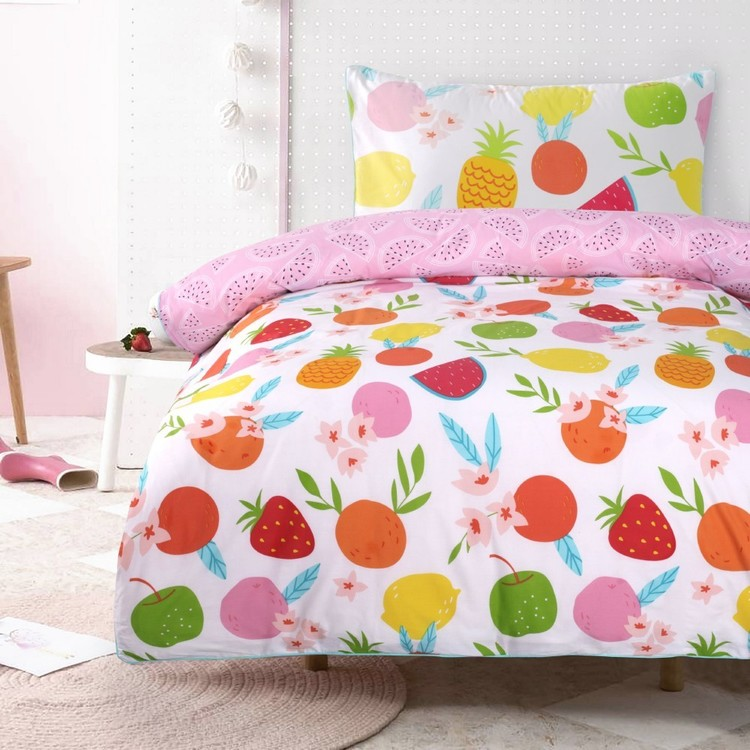 Kids House Fruit Quilt Cover Set Multicoloured
