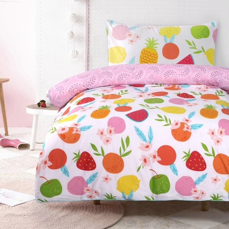 Kids House Fruit Quilt Cover Set