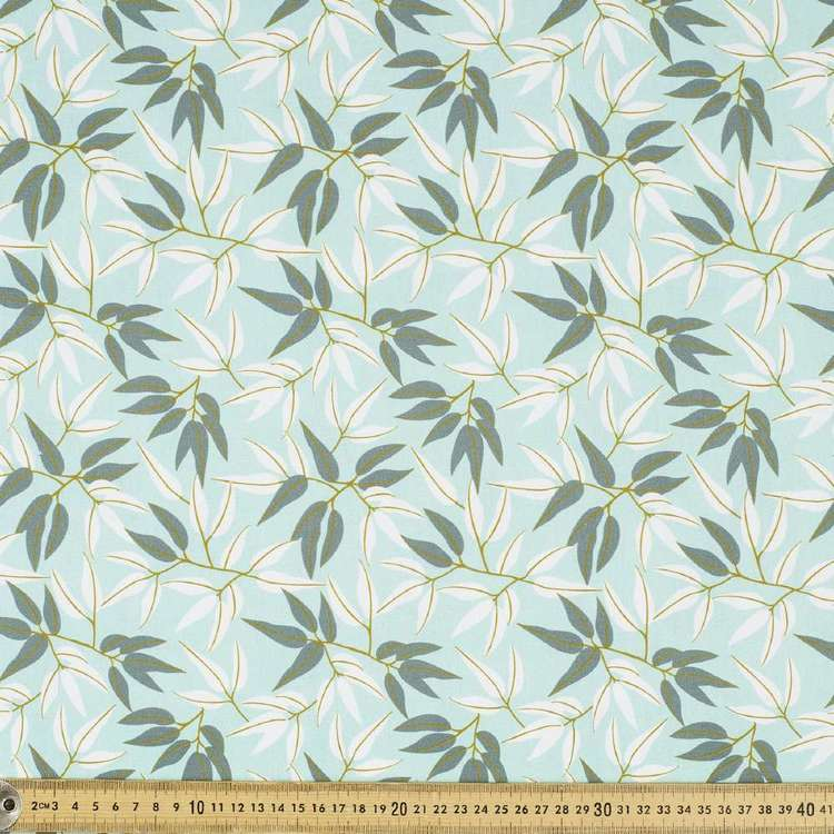 Jocelyn Proust Digital Gum Leaf Cotton Fabric