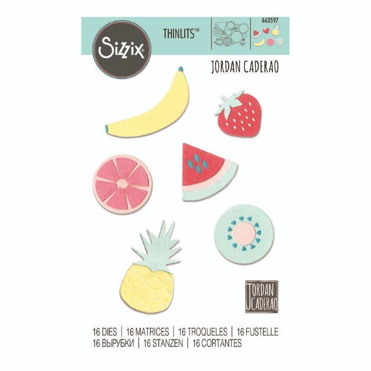 Sizzix Jordan Caderao Summer Fruit Thinlit Dies 16 Pack