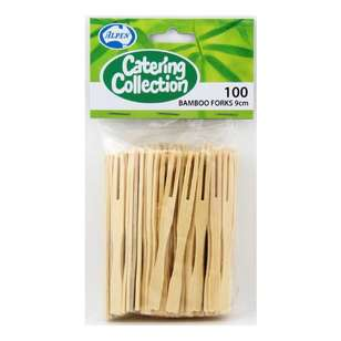 Bamboo Cocktail Forks 10 Pack