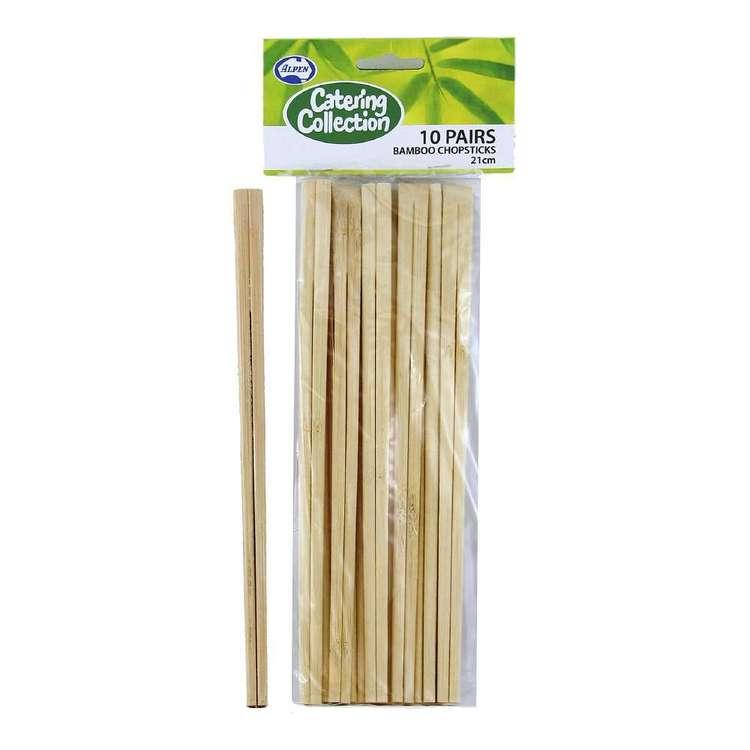 Alpen Bamboo Chopsticks 10 Pack