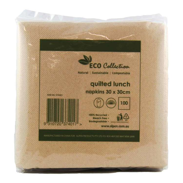Alpen Eco Quilted Lunch Napkins 100 Pack
