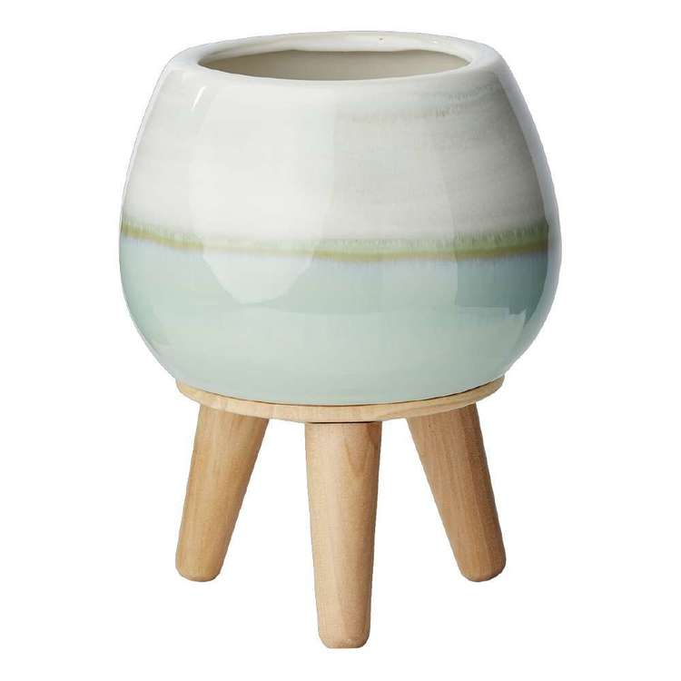 Living Space Circle Planter Pot With Legs