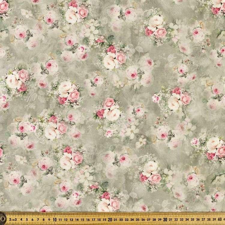 Forgotten Rose Digital Printed 135 cm Lawn Fabric
