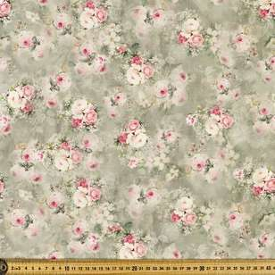 Forgotten Rose Digital Printed 135 cm Lawn Fabric