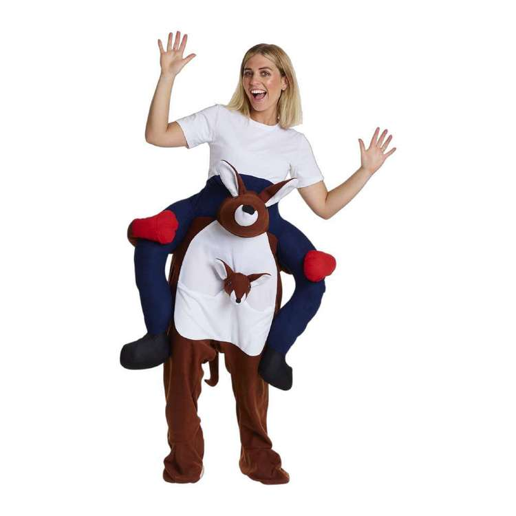 Spartys Ride On Kangaroo Adult Costume