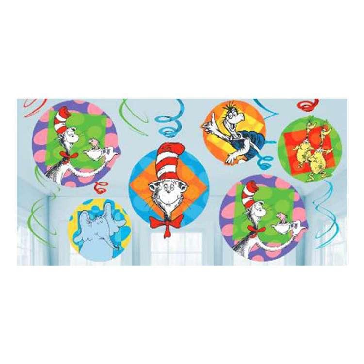 Dr. Seuss Swirl Decorations