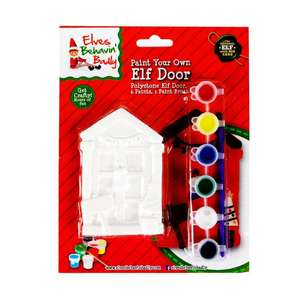 Elves Behavin' Badly Paint Your Own Elf Door