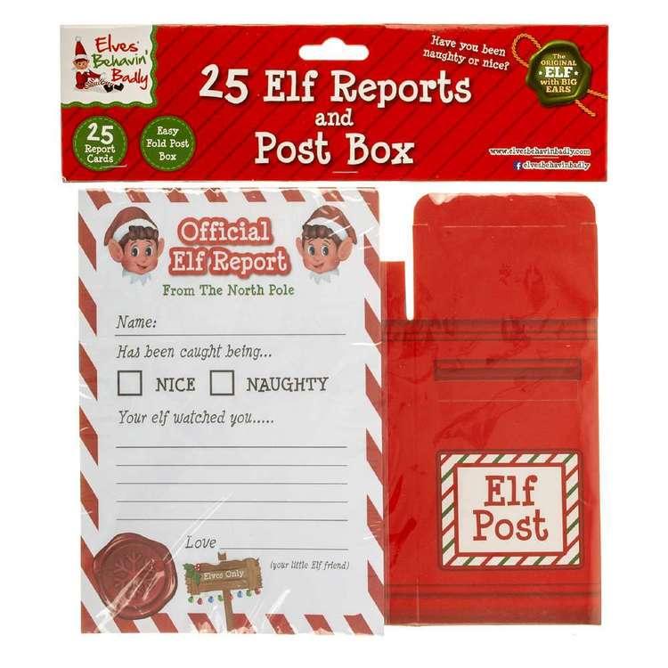 Elves Behavin' Badly Elf Report With Post Box