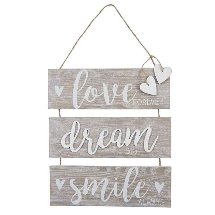 Living Space Love Dream Smile Decorative Plaque