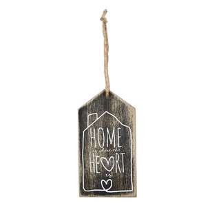 Living Space Home Heart Decorative House Plaque