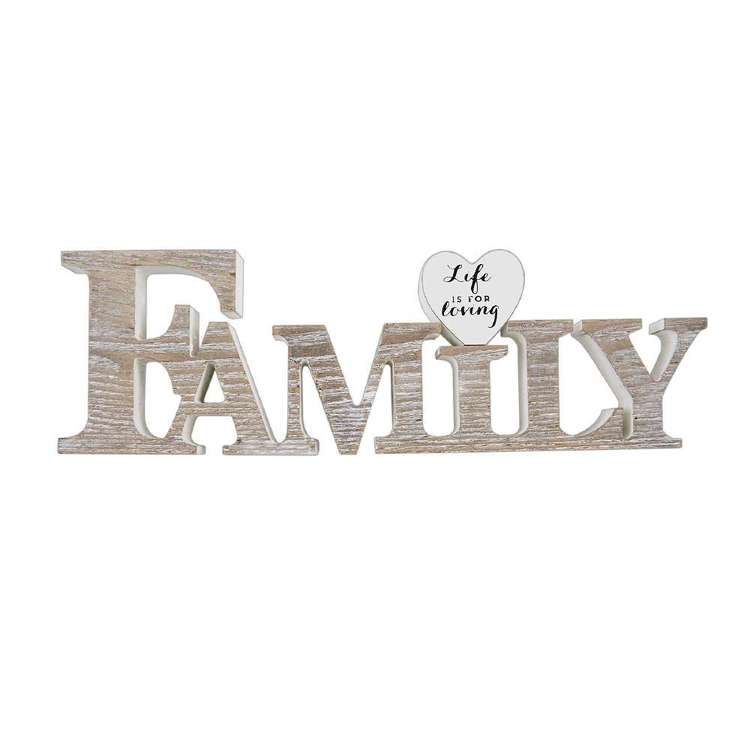 Living Space Family Typo Decorative Ornament