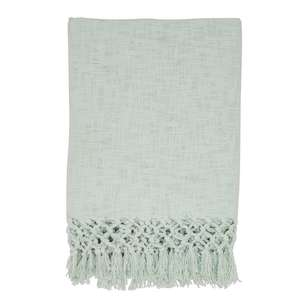 Ombre Home Boho Bloom Slub Knit Green Throw