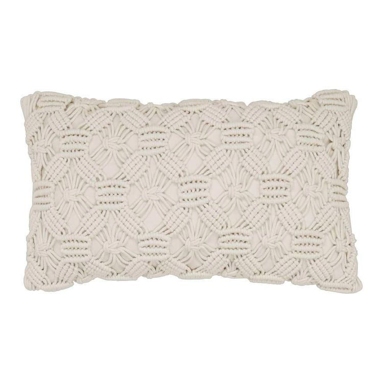 Ombre Home Boho Bloom Macrame Cushion