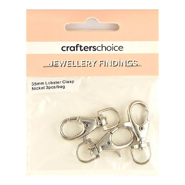 Crafters Choice Lobster Clasp Swivel 3 Pack Silver 35 mm
