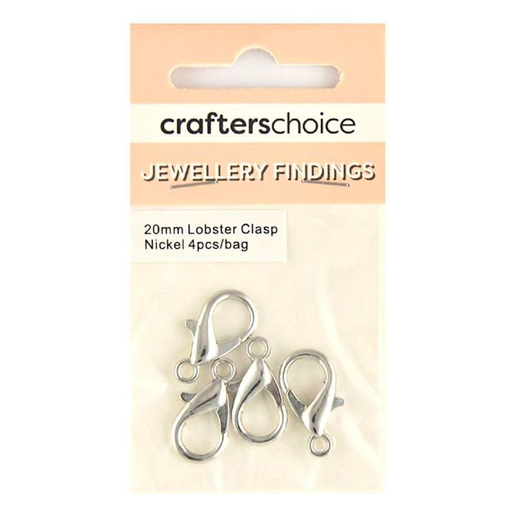 Crafters Choice Lobster Clasp 4 Pack Silver