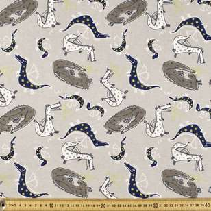 Dragons Printed 112 cm Flannelette Fabric